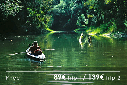Danube canoe trips<BR><H4>1. Enter Slovakia on water <BR>2. Explore Danube wilderness<H4>