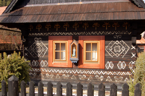 Čičmany - national folk architecture reserve
